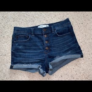 Abercrombie and Fitch High Rise Denim Shorts